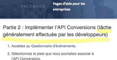 LudovicClain.com Facebook Implémenter l'API conversions